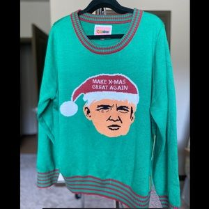 TIPSY ELVES TRUMP UGLY CHRISTMAS SWEATER XL